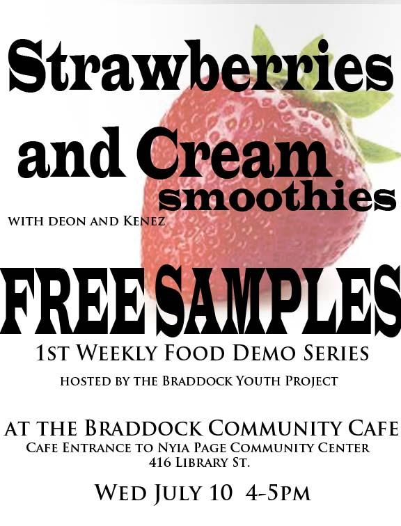 Free Food Demo: Strawberries & CreamSmoothies